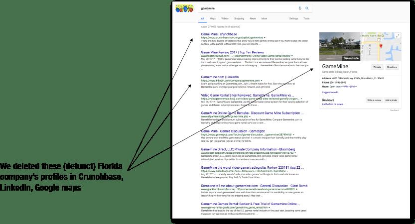 GameMine Google Search